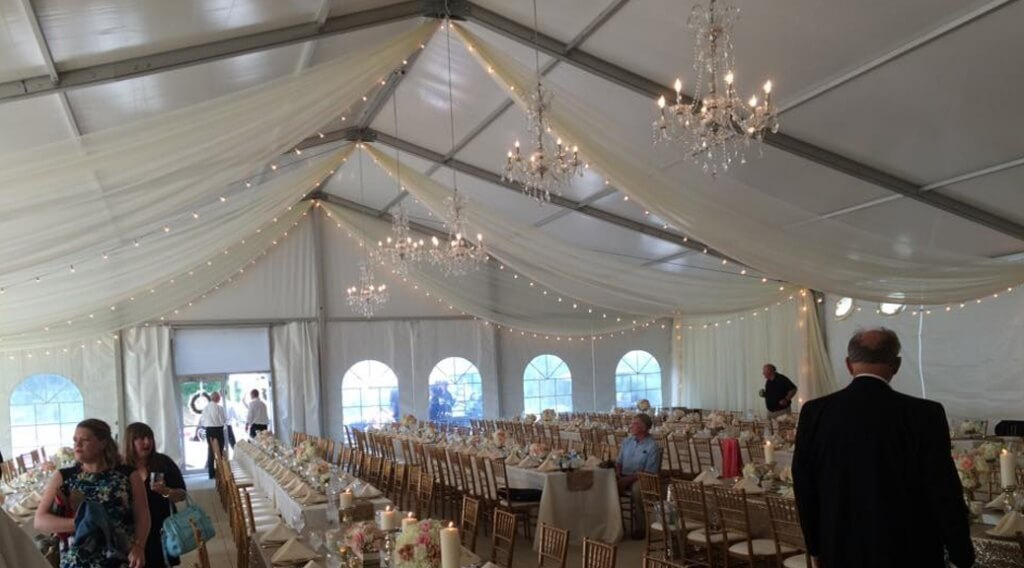 Clearspan Wedding Tent With Air Conditioning Grimes