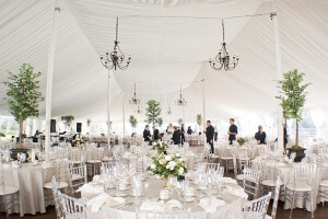 White Tents - Rental Chairs - Rental Tables