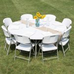 round plastic table setup ideas