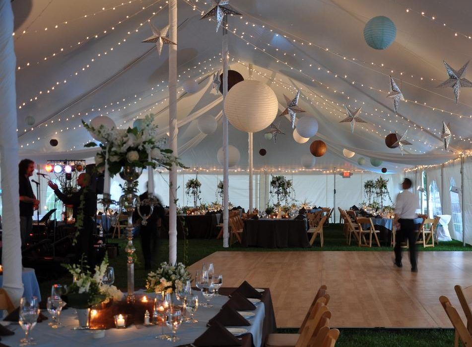 white wedding tent rentals